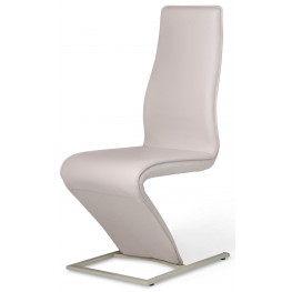 Trance White Upholstered Side Chair
