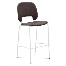Traffic Flirt Brown Lacquered Steel White Frame Stacking Chair