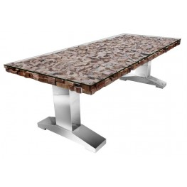 Taj Trapasso Stainless Steel Dining Table