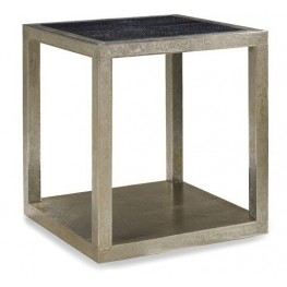 Treviso Crocodile Leather End Table