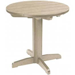 """Generations Beige 32"""" Round Pub Height Table"""