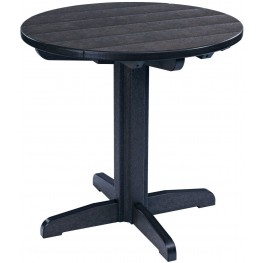 """Generations Black 32"""" Round Pub Height Table"""