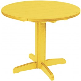 "Generations Yellow 37"" Round Pedestal Pub Height Table"