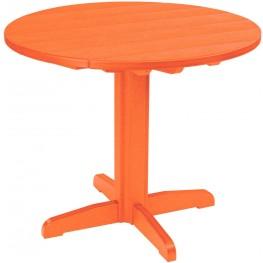 "Generations Orange 37"" Round Pedestal Pub Height Table"