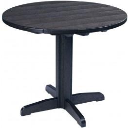 "Generations Black 37"" Round Pedestal Pub Height Table"