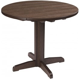 """Generations Chocolate 37"""" Round Pedestal Pub Height Table"""
