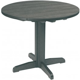 """Generations Slate Grey 37"""" Round Pedestal Pub Height Table"""