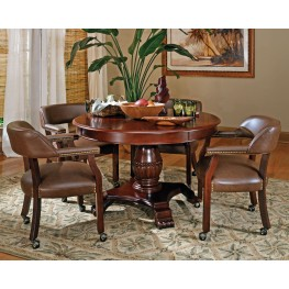 Tournament Brown Round Folding Game Room Set