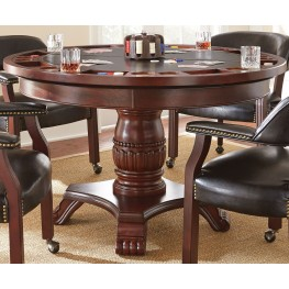 Tournament Black Round Folding Game Table