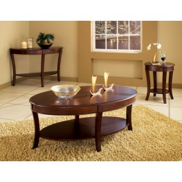 Troy Medium Brown Cherry Occasional Table Set