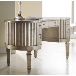 Melange Silver Fluted Kidney Desk