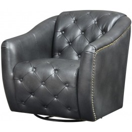 Vintage Matte Black Swivel Chair