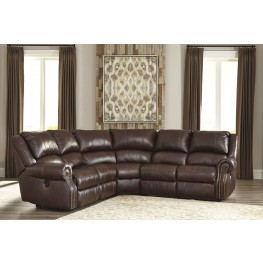 Collinsville Chestnut Reclining Sectional