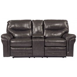 Banetonville Metal Double Power Reclining Console Loveseat