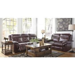Zephen Mahogany Reclining Mahogany Living Room Set