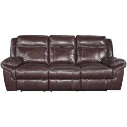 Zephen Mahogany Reclining Power Reclining Sofa