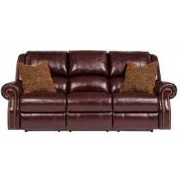 Walworth Blackcherry Reclining Power Sofa