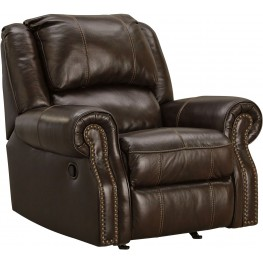 Walworth Dark Brown Rocker Recliner