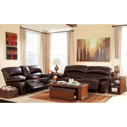 Damacio Dark Brown Reclining Living Room Set