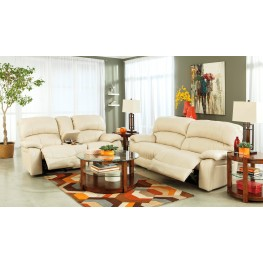 Damacio Cream Power Reclining Living Room Set