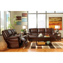 Lenoris Coffee Power Reclining Living Room Set