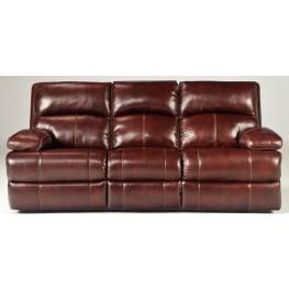 Lensar Burgundy Power Reclining Sofa