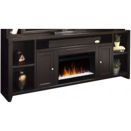 "Urban Loft 84"" Mocha Super Fireplace Console"