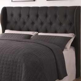 Murrieta Charcoal Upholstered King Tufted Headboard