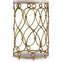 Melange Gold Spencer Accent Table