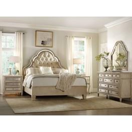 Sanctuary Beige Pearl Essence Tufted Platform Bedroom Set
