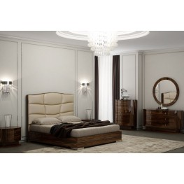 Venice Zebrano Upholstered Platform Bedroom Set