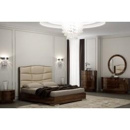 Venice Zebrano Upholstered Platform Bedroom Set