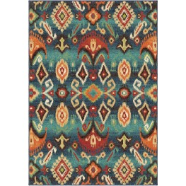 Spoleto Bright Color Southwest Aztec Monica Multi Medium Area Rug