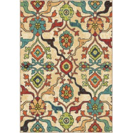 Spoleto Bright Color Floral Tibet Multi Large Area Rug