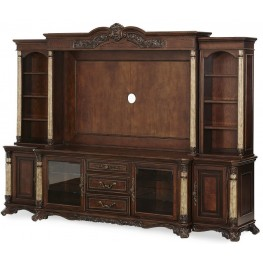 Victoria Palace Entertainment Wall Unit with Side Piers