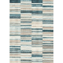 Villa Navy/Beige Barcode Floor Cloth Medium Rug