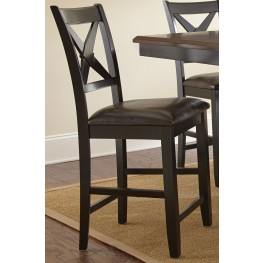 Violante Faux Leather Counter Chair Set of 2