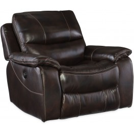 Gregory Brown Leather Power Glider Recliner