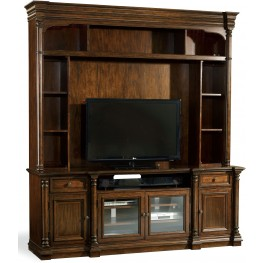 Leesburg Brown Entertainment Console Hutch