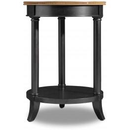 Ashton Black Round Accent Table