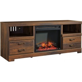Quinden LG TV Stand With Fireplace Insert
