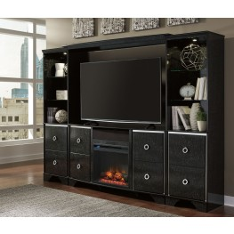 Amrothi Entertainment Center With Fireplace Insert