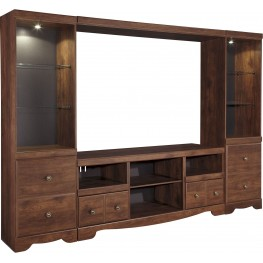 Brittberg Reddish Brown Entertainment Wall Unit