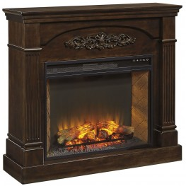 Boddew Dark Brown Fireplace Mantel
