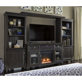 Townser Waxy Grayish Brown Large Entertainment Wall unit