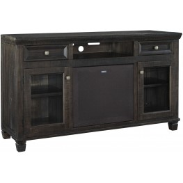Townser Waxy Grayish Brown Large TV Stand With Large Integrated Audio