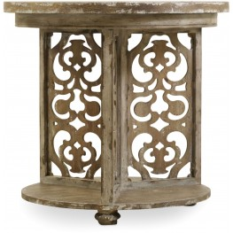 Chatelet Gray Round Accent Table