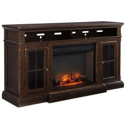 Roddinton Extra Large TV Stand with Fireplace Insert