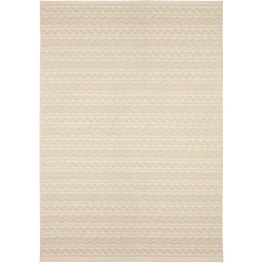Jersey Home Indoor/Outdoor Knit Cableknots Ivory Large Area Rug