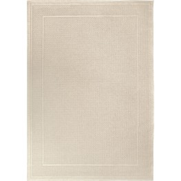 Jersey Home Indoor/Outdoor Border Bonita Ivory Large Area Rug